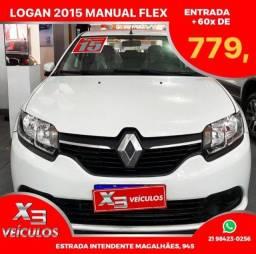 Título do anúncio: Renault Logan 2015 flex