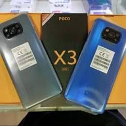 Poco X3 128 nfc GB/6 GB Ram Azul/Cinza