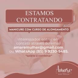 Título do anúncio: Vaga de manicure com curso de alongamento