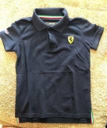 Blusa poli Ferrari infantil