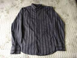 camisa cinza com preto social