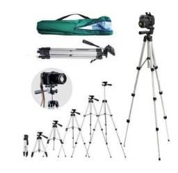 Tripé Profissional Universal Para Câmera Celular Live e Fotos 1,15 Metros