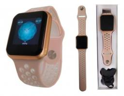 Relógio Smartwatch Touch F8 Sport Fitnes Android Ios rose