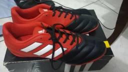Chuteira adidas futsal ace 17.4 preto/vermelho