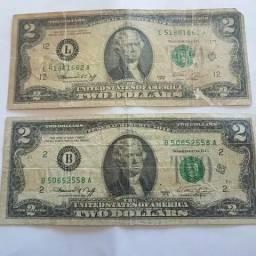Vendo nota de 2 dólares Ano 1976 Reliquia