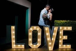 Letreiro Luminoso LOVE led