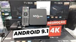 Tv Box 4k 3GB de RAM/ Android 9.1 ( Não trava )