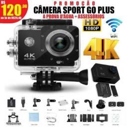 Câmera modelo Go Pro 4k Sport a prova d'água (entrega grátis)