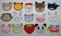 Kit 3 Babador de Animais para crianças e bebês Roupa Infantil