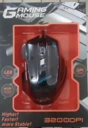 Mouse Gamer 3200 dpi 7 botões LED Optical Mouse USB Com Fio( Entrega gratuita)