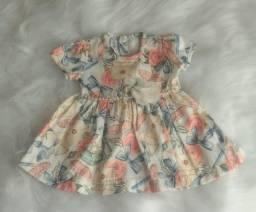 Vestido de bebê tam p
