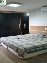 3 suítes 100% Mobiliado 128m², bairro Ponta Negra, Manaus-AM