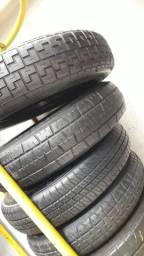 Pneu fino estepe com rodas Gm/ hinday/ honda/ Toyota (novos)