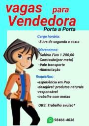 VAGA PARA VENDEDORA
