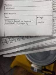 Fritadeira tacho para salgados 7 litros inox gas pra 70g provas Bg