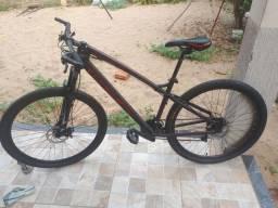 Bicicleta Colli Bike Toro Aro 29 com 21 Marchas e Freio a Disco - Preto e Laranja<br>