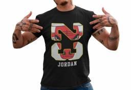 Camisa Camisetas Jordan Nba Manga Curta