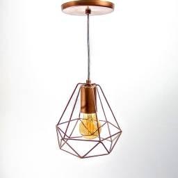 Pendente Aramado Diamante+Lâmpada Filamento