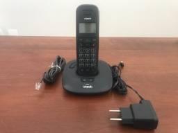 Telefone Digital Sem Fio Preto c/ Secretária Eletrônica Vt650se Vtech