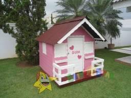 Casinha de boneca Pequena - Rosa