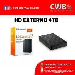 HD Seagate Externo Portátil, USB 3.0 4TB Preto, Loja Física