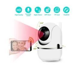 Câmera Ip Wifi Giratória Sensor Movimento Visão Noturna Varredura