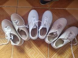 3 pares de tênis