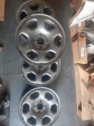 Título do anúncio: Jogo de rodas ferro aro 15 original ford
