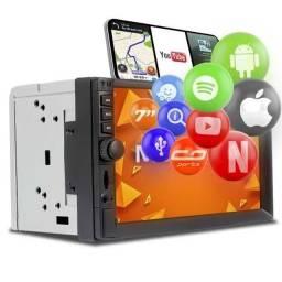 """Central Multimídia 2 Din 7"""" Multilaser Evolve GP345 TV Digital BT USB Espelhamento<br><br>"""
