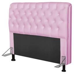 Título do anúncio: Cabeceira Para Cama Box Solteiro Paris 90 cm Corano Rosa ? Js Móveis