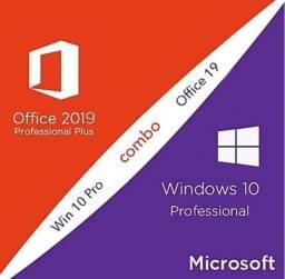 Título do anúncio: Windows 10 pro office 2019 pro plus!