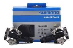 Pedal Shimano Clip Pd M520 Preto Com Tacos