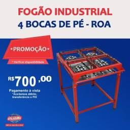 Título do anúncio: Fogão industrial 4 bocas de pé