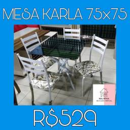 Mesa de jantar com quatro cadeiras entrego e monto grátis