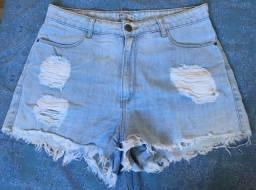 Short Jeans Azul claro Renner