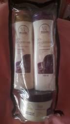 Kits shampoo, condicionador e máscara de tratamento