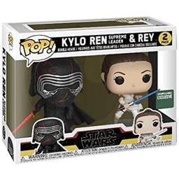Título do anúncio: Bonecos Funko Pop Original Kylo e Rey star Wars dois em um