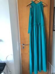 Vestido Longo verde esmeralda zinzane