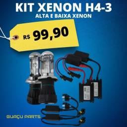 Kit Bi Xenon Alta e Baixa (O Mais forte) H4-3