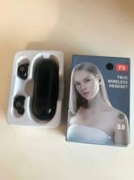 Fone Bluetooth TWS F9 Novo Na caixa