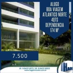 Alugo 174 m²/ 4 quartos/ Boa Viagem / dependência/ /armários