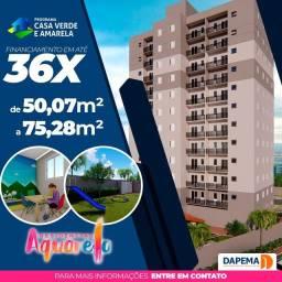 Título do anúncio: Lançamento Residencial Aquarela, Apartamentos de 50,07m2 a 75,28m2, 2 Dormitórios, Varanda
