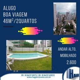 Alugo 54 m²/ 2 quartos/ Boa Viagem / mobilhado/ /armários