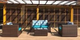 Título do anúncio: Conjunto de sofá Bahamas em fibra sintética