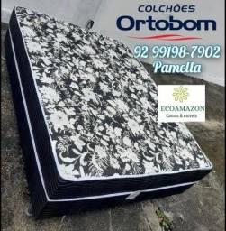 Título do anúncio: Cama Casal de ESPUMA Ortobom +2 travesseiros