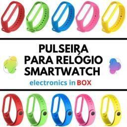 Pulseira de Silicone Para Relógio Smartwatch M5, M4, M3.