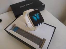 Relógio Smartwatch P80 Prata - Ótima Qualidade