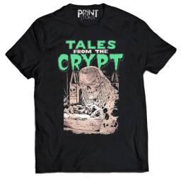 camiseta em silk screen Tales From The Crypt (contos da cripta) camisa movie terror