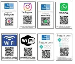 Título do anúncio: Display Plaquinha Chave Pix Qr Code Personalizado Comércio