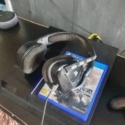PS4 COM JOGOS E FONE GAMER